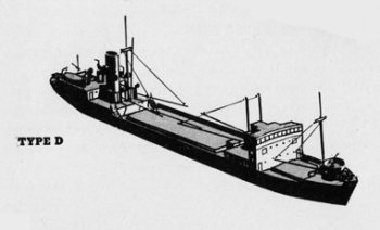Diagram of 1D class cargo ship