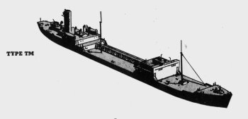 Diagram of 2TM class Japanese tanker