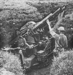 Photograph of 40mm Vickers AA gun