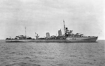 "Photograph of Achates. an Acasta or ""A"" class destroyer"