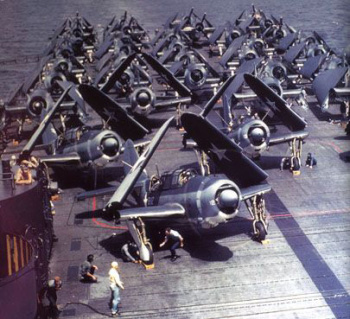 Photograph of Helldivers spotted on         deck