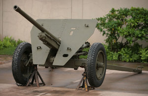 Photograph of 47mm Type 1 antitank gun