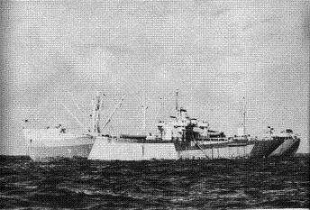 Photograph of Acubens-class stores issue ship
