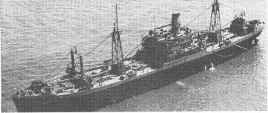 Photograph of a C2-S ship configured as a Navy auxiliary
