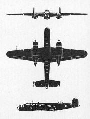 Schematic of                   B-25 Mitchell