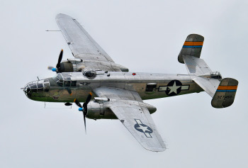 Photograph of restored B-25 Mitchell