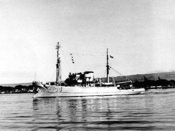 Photograph of USS Conserver, a Bolster-class rescue and salvage ship