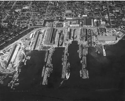 Photograph of Puget Sound Navy Yard at         Bremerton