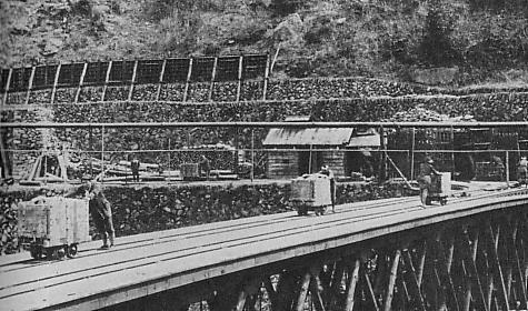 Photograph of Besshi mine in 1930s