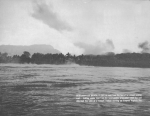 Photograph of landing beaches on Bougainville