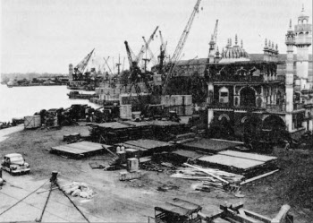 Photograph of docks at Calcutta