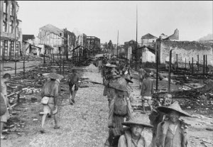 Photograph of Liuchow, devastated by war
