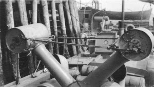 Photograph of Y type depth charge thrower