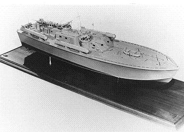 Photograph of model of PT-109m, an Elco type PT boat