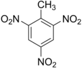 Structural formula of TNT