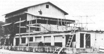 Photograph of radar intercept center at Fort Shafter