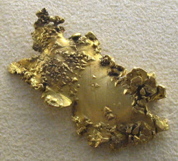 Photograph of gold nugget