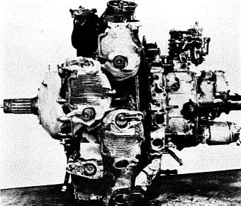 Photograph of Japanese Ha-109 aircraft engine