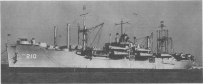 Photograph of USS Telfair, a Haskell-class attack transport