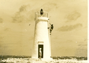 Photograph of Howland Island lighthouse, 1939