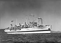 Photograph of C4 converted to hospital ship