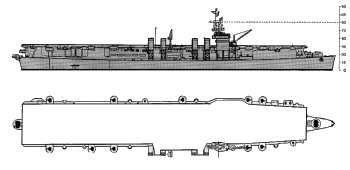 Schematic diagram of Independence class light                 carrier