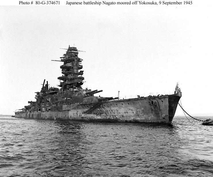 The Pacific War Online Encyclopedia: Nagato Class, Japanese