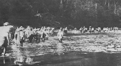 Photograph of river crossing
