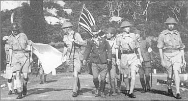Photograph of the surrender of Singapore